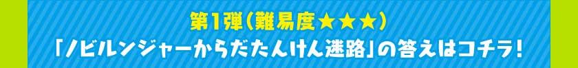 第1弾(範囲度★★★)「ノビルンジャーからだたんけん迷路」の答えはコチラ!