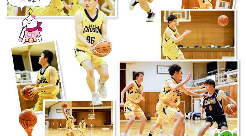 佐久長聖高校・男子バスケット部の集合写真