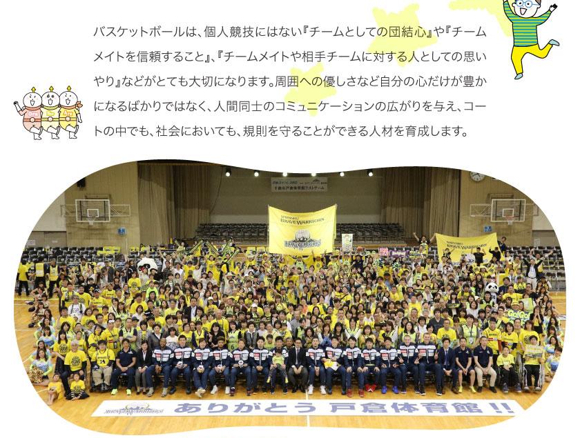 アカデミーでは、Jr.ユースチーム(U-15)で強化・育成を、スクール(中学生15歳以下)で普及・育成を行い、信州の各世代の子供たちの育成と、バスケットボールの普及・発展を目的としています。 将来的には、1人でも多くの選手をトップチームや日本代表へと送り出せるように、育成に力を入れていきます。さらに幼児~中学生までの体力作り、バスケットボールの技術向上だけではなく、マナーや協調性、自主性を養い、心身の成長を促し、信州ブレイブウォリアーズの一員として地域に貢献できる人材を育成していきます。
