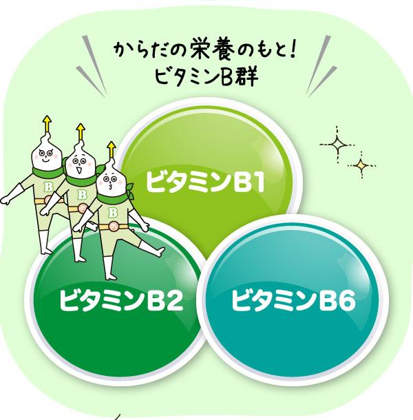 からだの栄養のもと!ビタミンB1、ビタミンB2、ビタミンB6