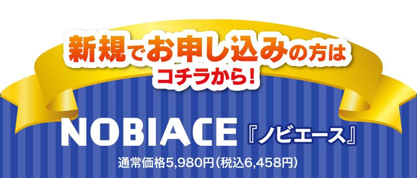 ノビエース5980円(税抜) 新規でお申し込みの方はコチラから!