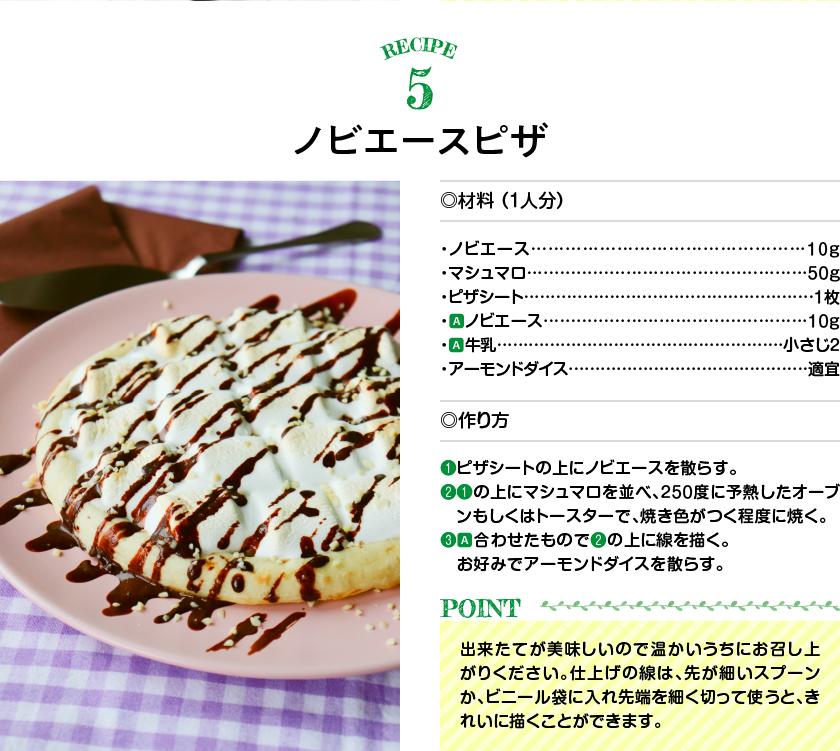 レシピ5ノビエースピザ