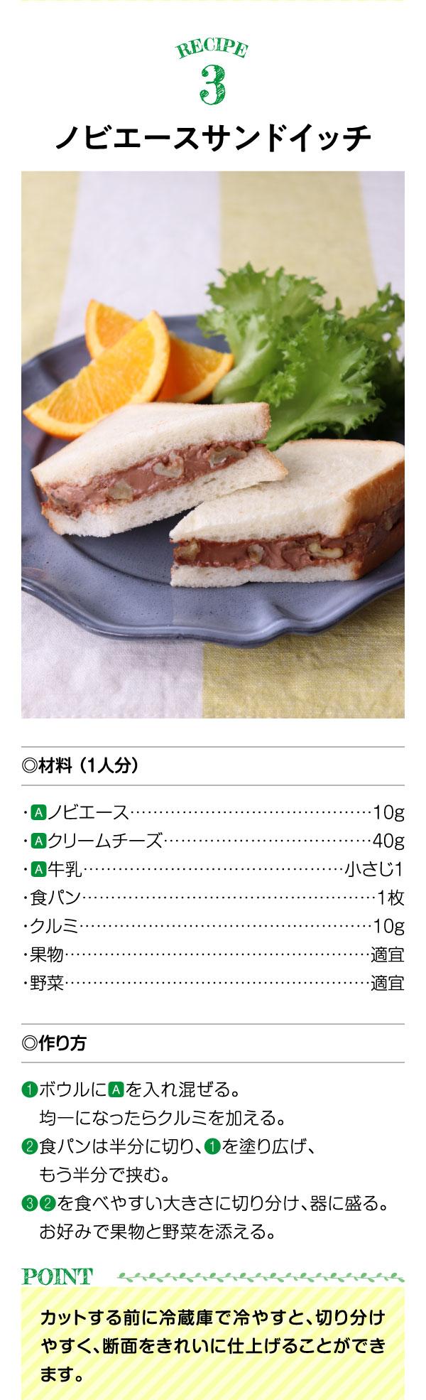 レシピ3ノビエースサンドイッチ
